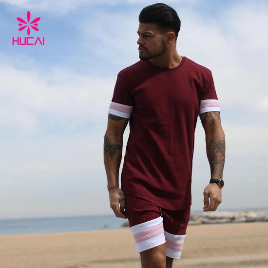 Wholesale Design Gym Suit T Shirt and Shorts Set Mens out Door Sports Wear