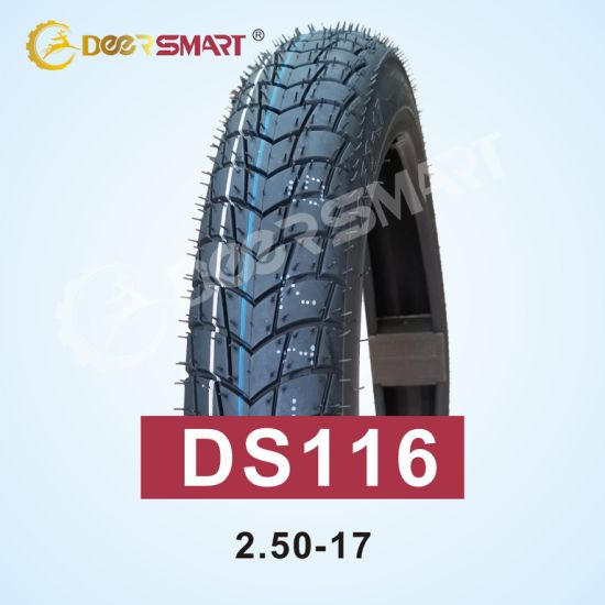 Factory Wholesale Motor Bike Tire Manufacture Size 250-17 Pattern Ds116 Tubeless Motorcycle Tyre