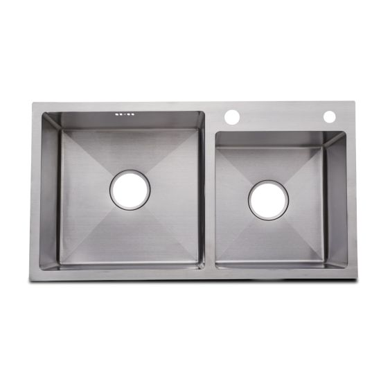 Hot Selling 201/304 Stainless Steel Handmade Double Bowl Kitchen Sink