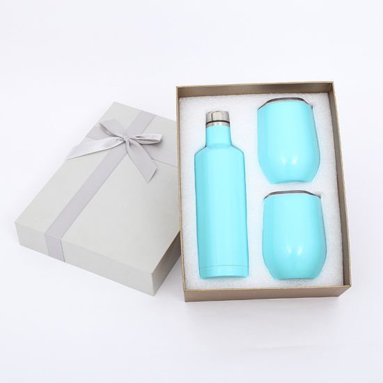 Custom Your Logo Corkcicle Thermos Gift Set Stainless Steel Bottle