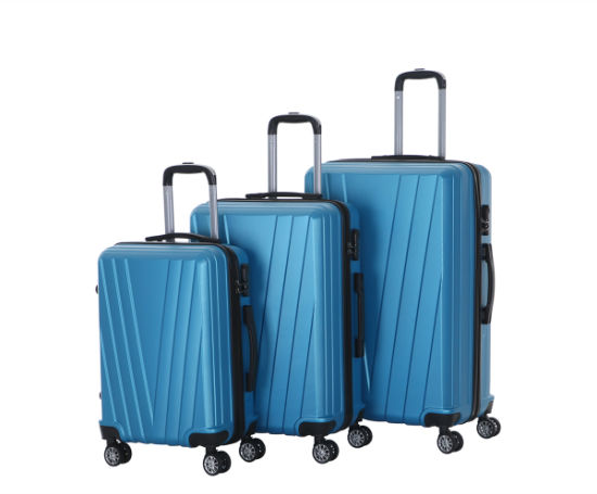 ABS Fashion Convient 3PCS Trolley Travel Luggage with 4 Spinner Wheels (XHA154)