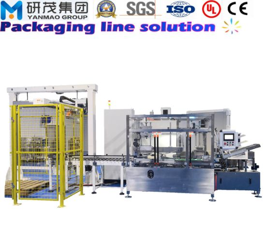 Case Carton Box Packing Packaging Machine with Erecting and Sealing