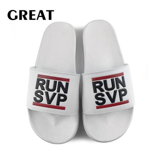 Greatshoe Fashion OEM Custom Logo Men Slide Sandal Summer Sport Slipper Footwear PVC Blank Slide Sandal