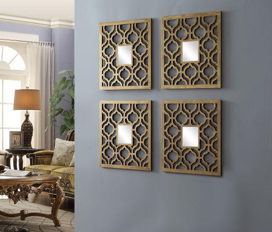 Decorative Wall Hanging Antique Mirror Combination Hanging Mirror Sets  Decorative Wall Mirror 7 PCS Antique Wall Mirror