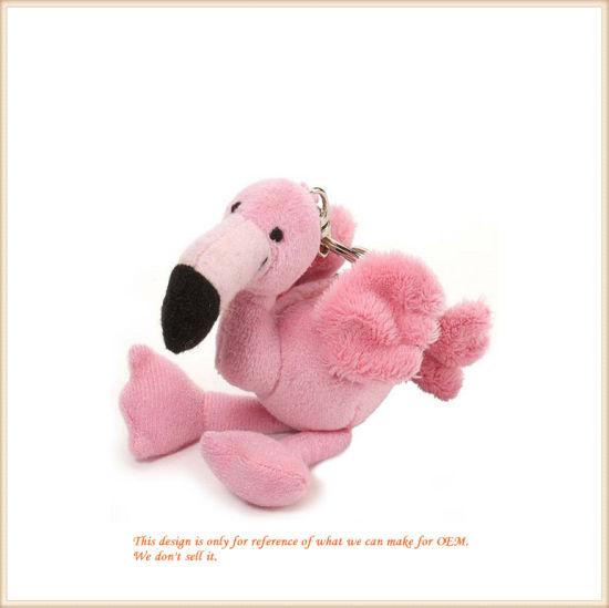 Mini Size Flamingo Key Finder Soft Animal Toys OEM