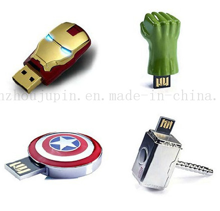 Custom Metal Marvel 3D Flash Disk Drive USB Stick
