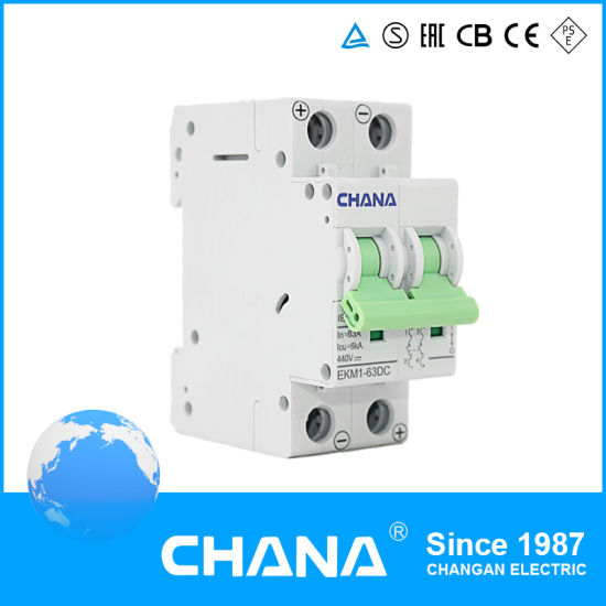Solar DC PV Application 1000V 6-63A Mini Circuit Breaker MCB with Ce Certificate pictures & photos