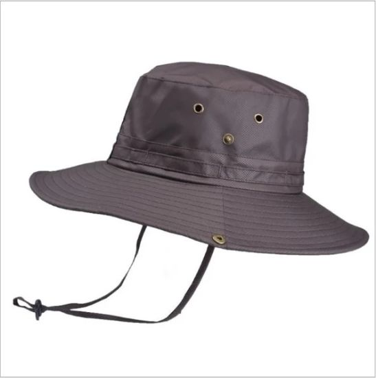 Wholesale 100% Cotton Fisherman Bucket Hat/Cap with Your Own Logo with String