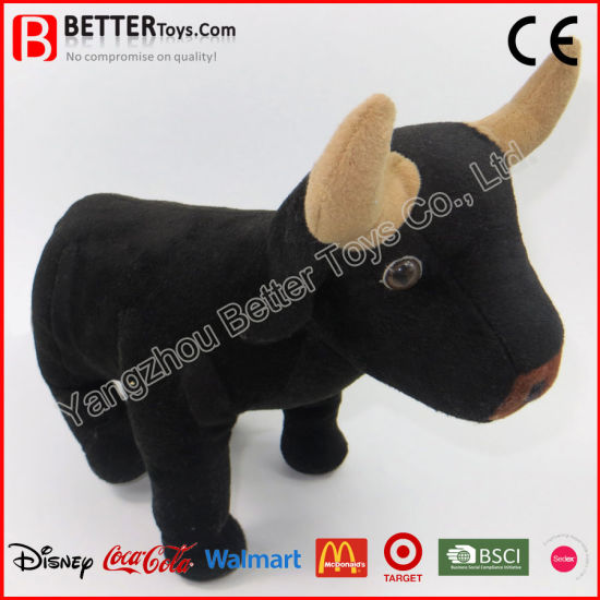 China Cuddle Stuffed Animal Soft Toy Plush Buffalo For Baby Kids