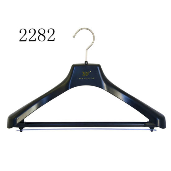 Business Suits Plastic Hanger with a Plastic Bar Adjustable