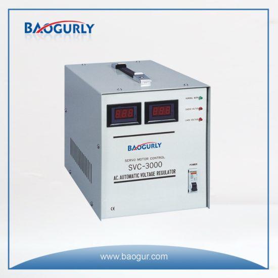 Single Phase Meter display SVC-3000va Servo Motor Voltage Regulator