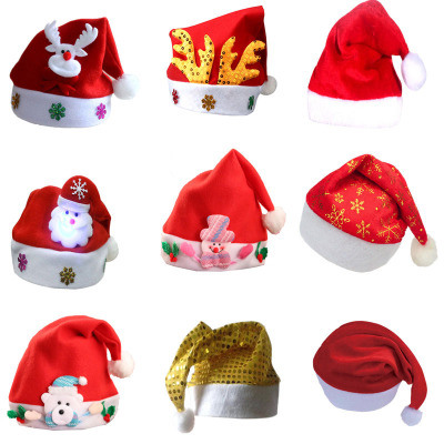 Wholesale Santa Claus′ Cap Christmas Xmas LED Santa Hat for Kids and Adults pictures & photos