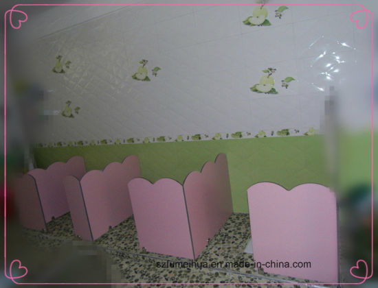 Beautiful Small Size Toilet Division Partition for Children/ HPL Partition pictures & photos