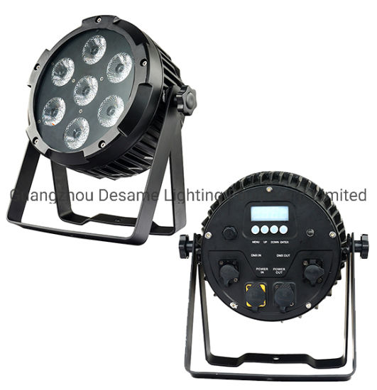 7PCS 12W RGBW Outdoor Waterproof Battery PAR LED Disco DJ Stage Light pictures & photos