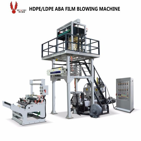 LDPE HDPE ABA Extruder Plastic Film Blowing Machine