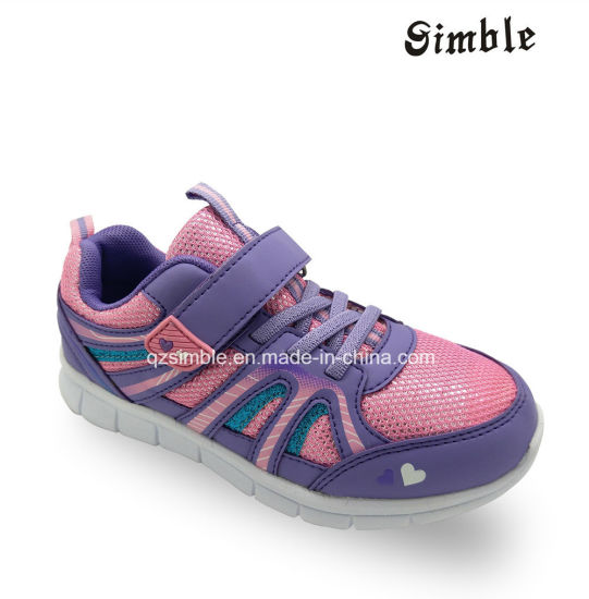 New Design Kids Sports Running Shoes with Mesh Upper