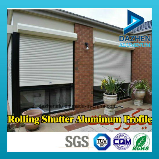 Customized Rolling Roller Shutter Door Profile 6063 Aluminum Aluminium Extrusion Profile pictures & photos