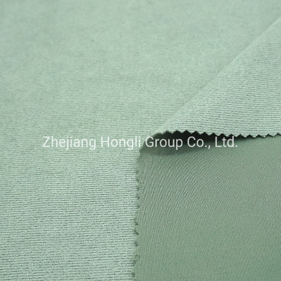 Fabric, Suede, 90%Polyester 10%Spandex 4 Way Stretch Light Color Stripe Suede Fabric