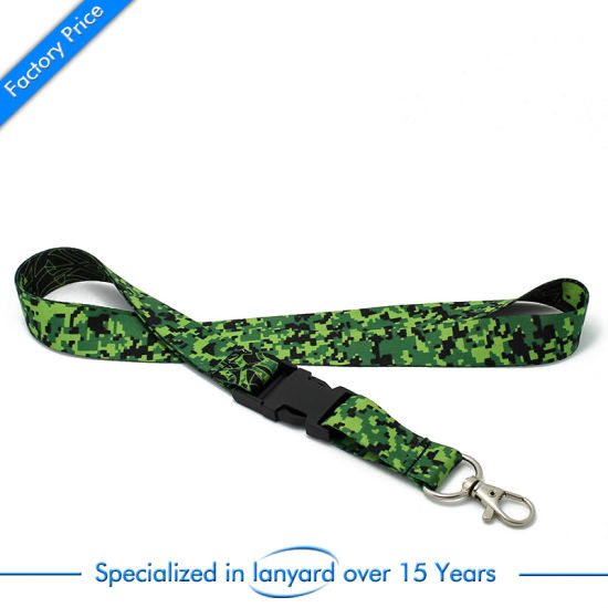 Customized Fashion Stain Woven Lanyard with Metal Clip pictures & photos