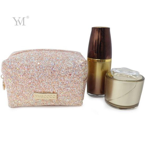 Bling Bling Shiny Glitter Cute Square Makeup Pouch Bag
