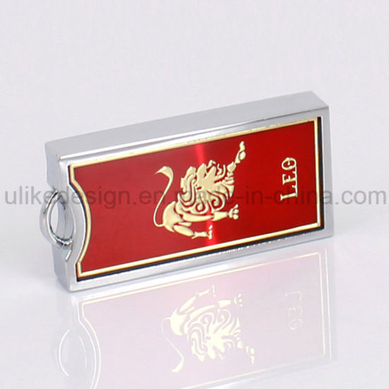 Red Metal USB Flash Driver (UL-M049-02) pictures & photos