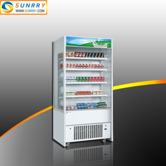 Supermarket Price Air Curtain Refrigerated Display Case