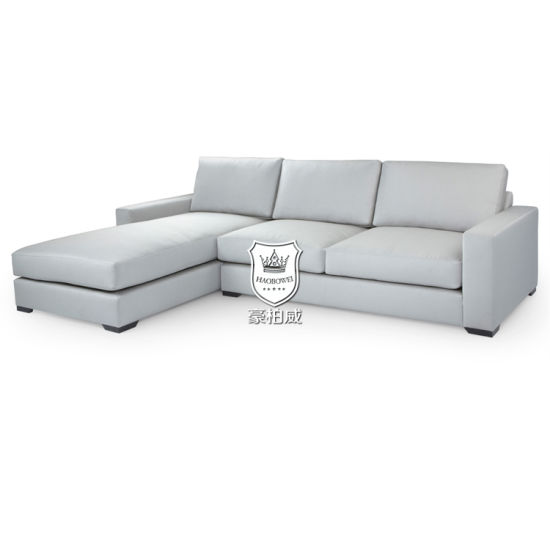China Modern Simple Sofa Set Design L Shape Fake Leather China