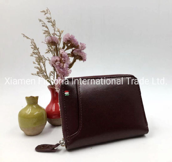 Genuine Leather Wallet Organizer Card Holder Men Purse with Coin Pocket