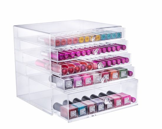 Acrylic Makeup Organizer with 5 Drawers