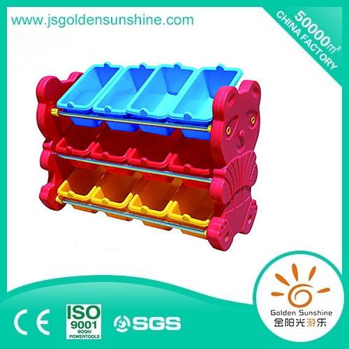 Children's Furniture Bear Shaped Toy Shelf/Plastic Cabinet/Organizer/Collecting Shelf