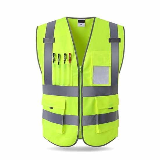 Polyester Breathable Safety Top Reflective Workwear Uniform Unisex for Railway Highway Safety