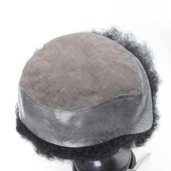 Afro Curl Full Cap Wig for Men Durable Mono Base Design pictures & photos