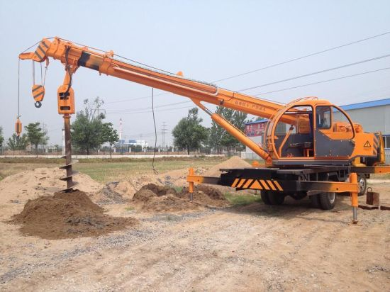 New Design Construction Used Crane Auger Truck for Sale pictures & photos