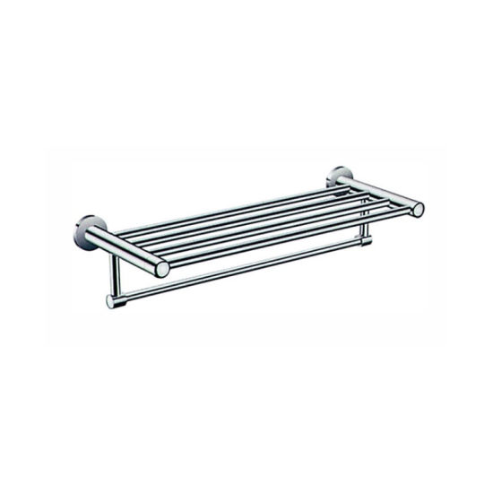 China Manufacturer Brass Bathroom Wall Mounted with Screw Towel Rack Shelf Used in High End Hotel