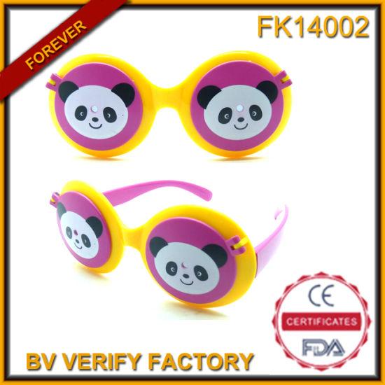 8b369c922b Fk14002 Cute Panda Pattern Plastic Frames Sun Shade Eyewear pictures &  photos