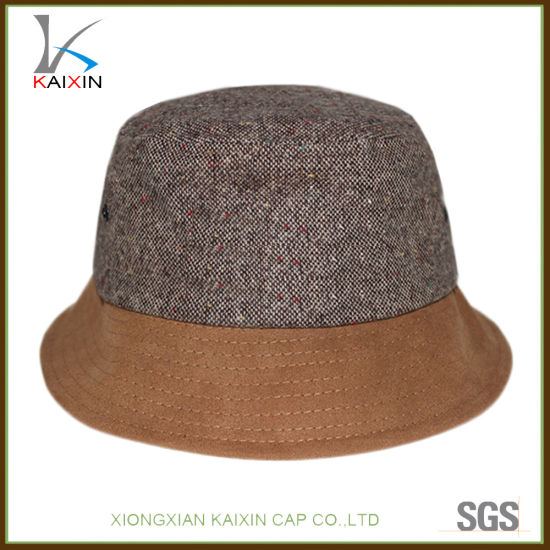 cfe313dc283 China Custom Brown Plain Blank Cheap Hemp Bucket Cap Hat - China ...