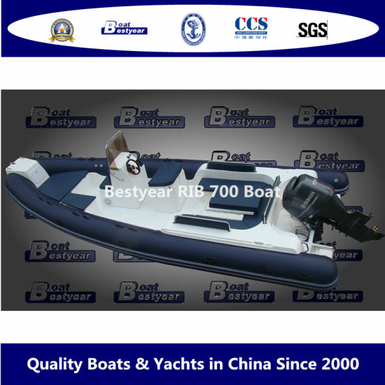 Bestyear 7m Rigid Inflatable Rib Boat with Hypalon or PVC Tube pictures & photos