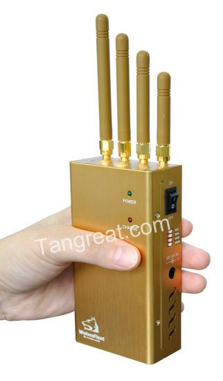 High Power Handheld Cell Phone & GPSl1 Jammer (TG-120D-PRO)