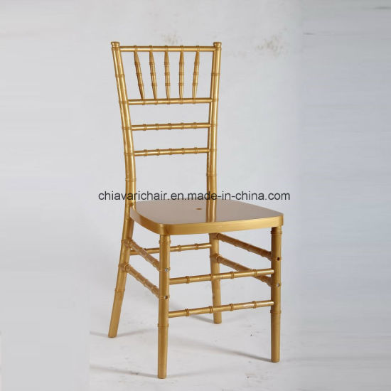 Outdoor Gold Color Polycarbonate Resin Chiavari Party Chairs Furniture