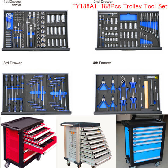 188PCS Professional Heavy Duty Tool Cabinet with 7 Drawers pictures & photos