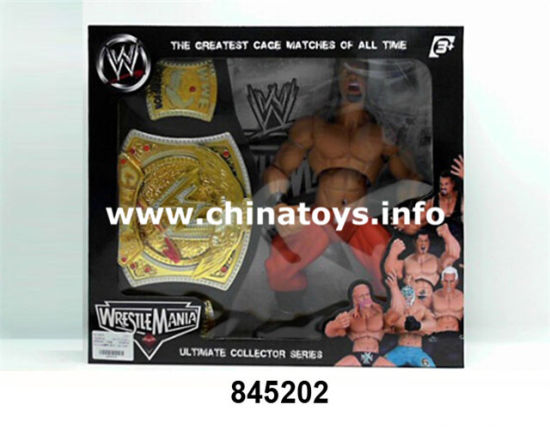 Newest Soft Plastic Toys Wrestler Doll with Gold Belt (845206) pictures & photos