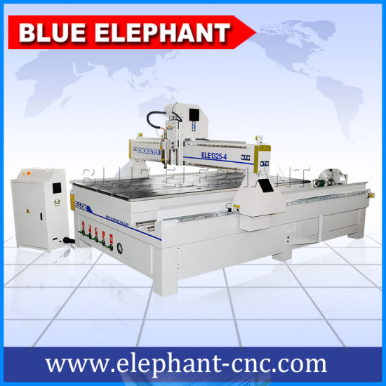High Quality 4X8 Wood CNC Router Machine with 3D Cylinder Rotary pictures & photos
