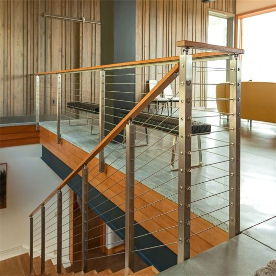 Modern Stainless Steel Cable Stair Railing / Wire Railing For Outdoor U0026  Indoor