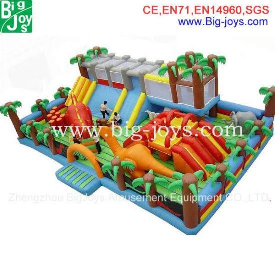 Giant Inflatable Fun City for Kids, Jungle Inflatable Jumper
