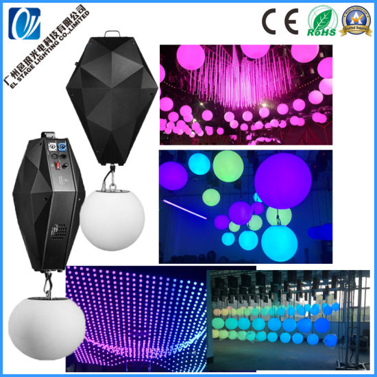Remote Control 16 Colors LED up-Down Lifting LED Ball Kinetic Light for Bar