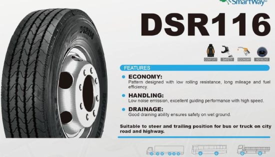 Double Star Truck Tyre 315/80r22.5, 12r22.5 Tubeless Radial Tyre pictures & photos