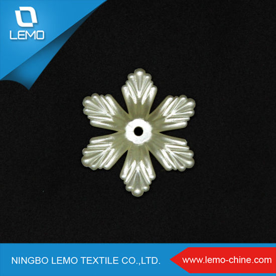 Flower Shape 25mm New Fashion with Round Hole Plastic ABS Pearl Beads