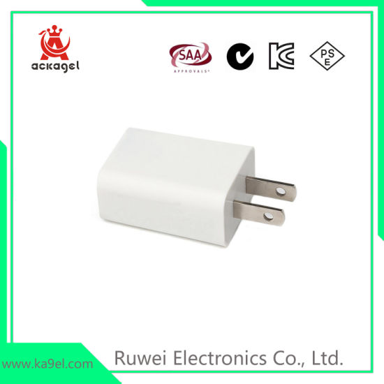Universal 5V/1A Mobile Phone USB Adapter Ce RoHS pictures & photos