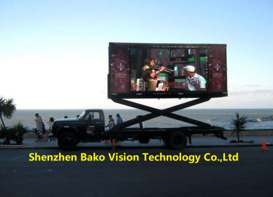 P4.81 P6.67 IP65 Mobile Stable LED Advertising Billboard Display Screen LED Tvs for Moving Car/Truck