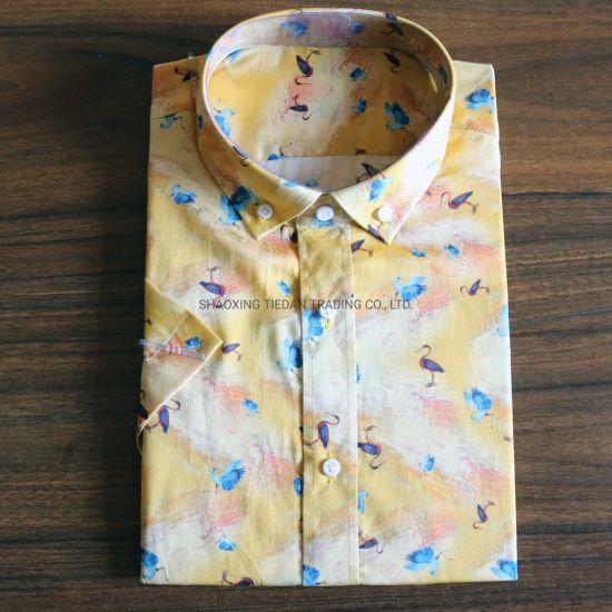 Cotton Digital Swan Printed Shirt